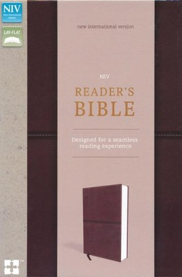 NIV, Reader's Bible, Imitation Leather, Brown  -