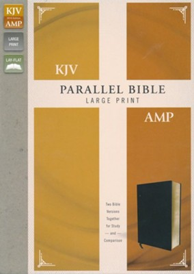 KJV and Amplified Parallel Bible, Large Print, Bonded Leather, Black  -
