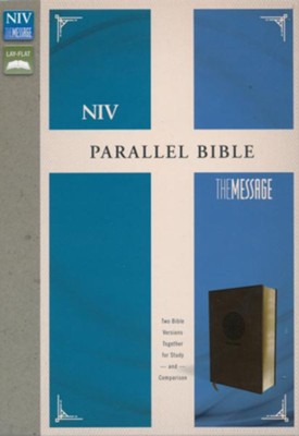 NIV, The Message, Parallel Bible, Leathersoft, Brown  -