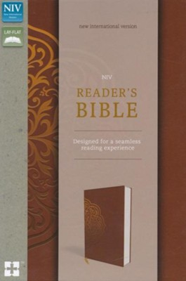 NIV, Reader's Bible, Imitation Leather, Brown and Gold  -
