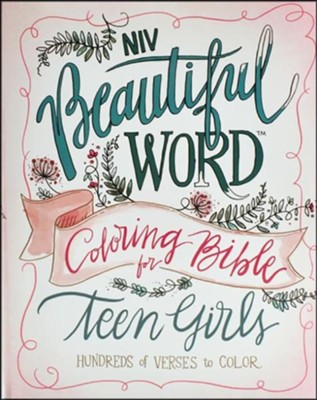 NIV Beautiful Word Coloring Bible for Teen Girls, Hardcover - Slightly Imperfect  -