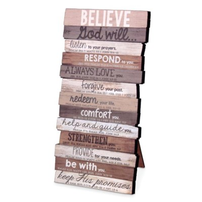 Believe Stacked Word Art, Small  -