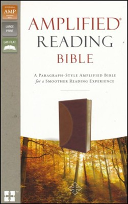 Amplified Reading Bible, Imitation Leather, Brown  -     By: Lockman Foundation