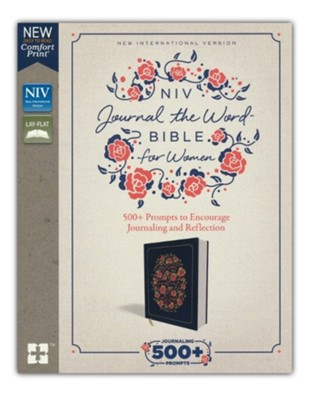 NIV Comfort Print Journal the Word Bible for Women, Cloth over Board, Navy  -