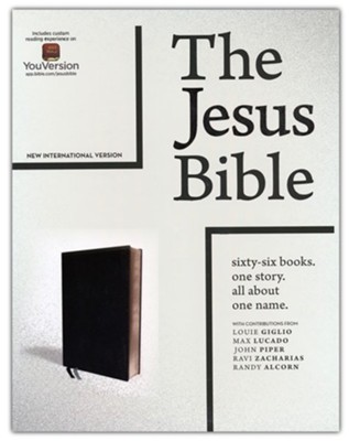 The Jesus Bible, NIV Edition, Imitation Leather, Black  -     By: Passion