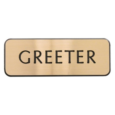 Greeter Lapel Pin, Gold  -