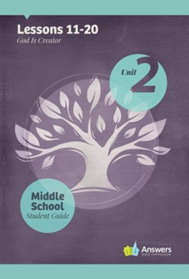 Answers Bible Curriculum Middle School Unit 2 Student Guide (2nd Edition)  -