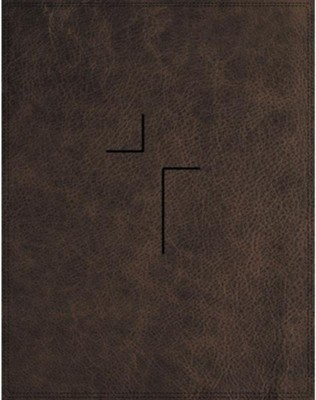 NIV Comfort Print Jesus Bible--soft leather-look, brown (indexed)  -     By: Louie Giglio, Max Lucado, John Piper, Ravi Zacharias & Randy Alcorn
