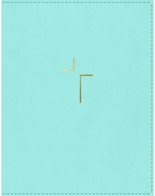 NIV Comfort Print Jesus Bible--soft leather-look, robin's egg blue (indexed)  -     By: Louie Giglio, Max Lucado, John Piper, Ravi Zacharis & Randy Alcorn