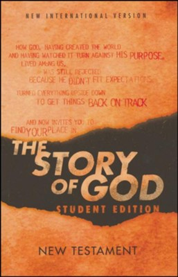 NIV, The Story of God, Student Edition, New Testament, Paperback  -