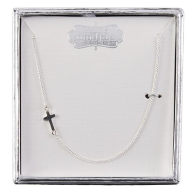 Baby's Cross Necklace, Sterling Silver, 14 Inches, With Gift Box  -