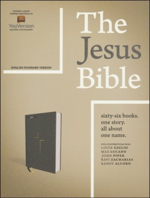 The Jesus Bible, ESV Edition, Leathersoft, Black, Indexed  -     By: Passion