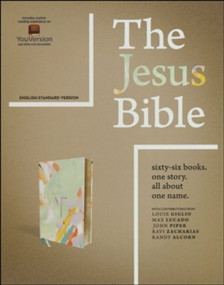 The Jesus Bible, ESV Edition--soft leather-look, multi-color/teal  -     By: Passion