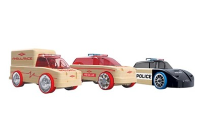 Automoblox Mini Rescue Vehicles, Pack of 3  -