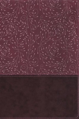NRSV Thinline Reference Bible--soft leather-look, burgundy