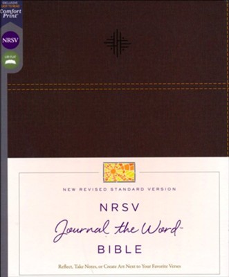 NRSV Journal the Word Bible, Comfort Print, Leathersoft, Brown  -