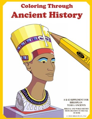 BiblioPlan Coloring Book for Ancient History (2nd Edition)   -