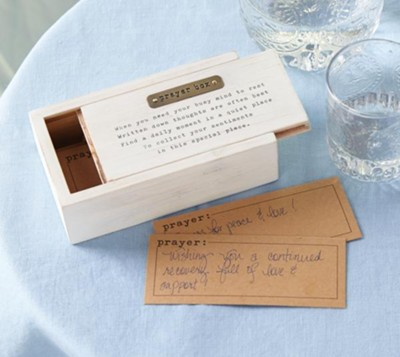 Prayer Box Set With 12 Kraft Paper Prayer Slips  -