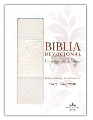 Biblia devocional: Los lenguajes del amor RVR60 - Duotono blanco/RVR 1960 Love Languages Devotional Bible--soft leather-look, white  -     By: Gary Chapman