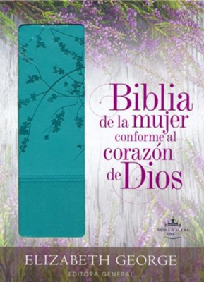 Biblia de la Mujer Conforme al Corazon de Dios, RVR 1960, Aqua  (Bible for Women After God's Own Heart, RVR 1960, Turquoise)  -     By: Elizabeth George