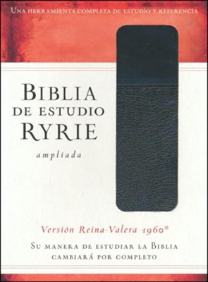 Biblia de Estudio Ryrie Ampliada RVR 1960, Duotono Negro, Ind.  Bible, Black Duo-tone with Index)  -     By: Charles Ryrie