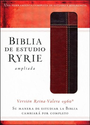 Biblia de estudio Ryrie ampliada RVR 1960, Marr&#243n (The Ryrie Study Bible, Brown Duo-tone)  -     By: Charles Ryrie