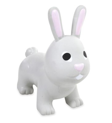 Bunny Animal Jump Along, Grey  -