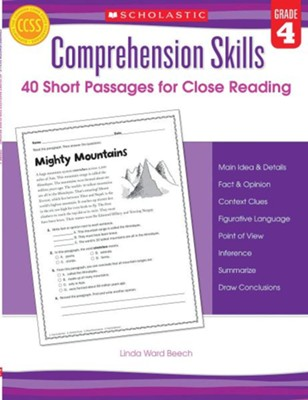 Comprehension Skills: Short Passages for Close Reading: Grade 4  -     By: Linda Beech