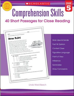 Comprehension Skills: Short Passages for Close Reading: Grade 5  -     By: Linda Beech