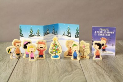A Charlie Brown Christmas Book.Peanuts A Charlie Brown Christmas Wooden Collectible Set