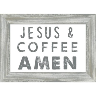 Jesus and Coffee Amen Framed Plaque - Christianbook.com