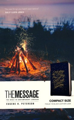 The Message Compact, Leather-Look  -     By: Eugene H. Peterson