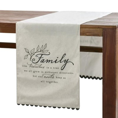 Family Like Branches in a Tree Table Runner  -