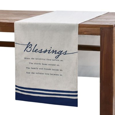 Blessings Table Runner, Indigo  -