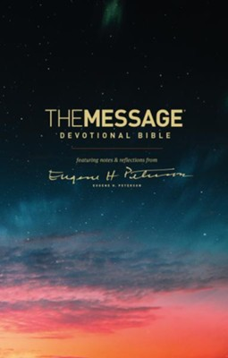 The Message Devotional Bible, Hardcover  -     By: Eugene H. Peterson