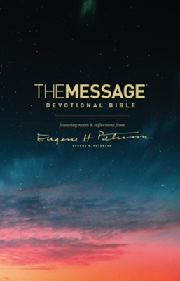The Message Devotional Bible, Softcover  -     By: Eugene H. Peterson
