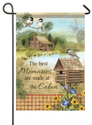 The Best Memories Are Made At the Cabin Flag, Small  -     By: Sandy Clough