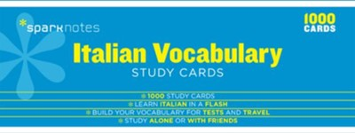 Italian Vocabulary SparkNotes Study Cards  -     By: SparkNotes