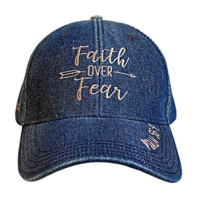 Faith Over Fear Cap, Denim  -