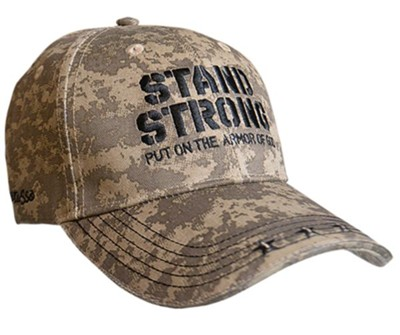 Stand Strong, Put on the Armor of God Cap, Camouflage  -
