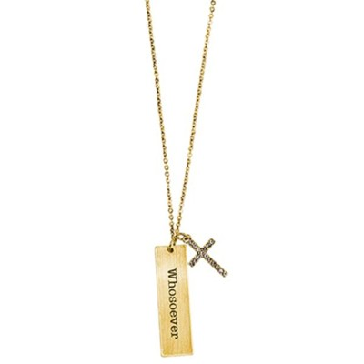 Bar, Whosoever, Necklace, Gold  -