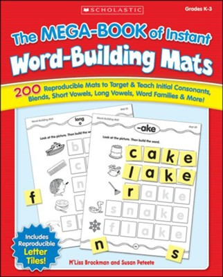 The MEGA-BOOK of Instant Word-Building Mats  -     By: M'liss Brockman, Susan Peteete