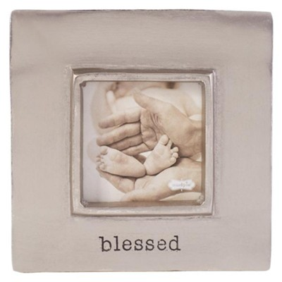 Blessed, Pewter Frame, With Easel Back  -