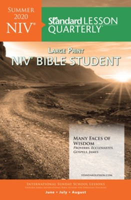 Standard Lesson Quarterly: NIV Large Print Bible Student, Summer 2020  -