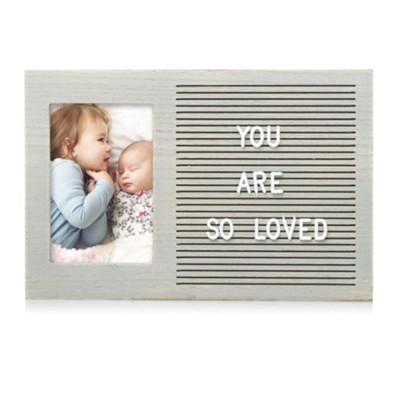 Letter Board Photo Frame, Gray  -