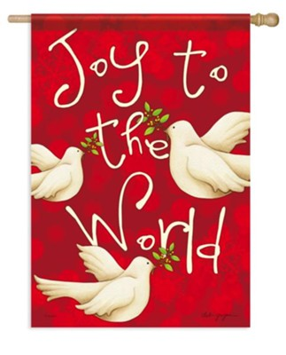 Joy To The World (doves), Large Flag  -     By: Deb Grogan