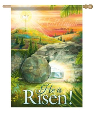 He Is Risen, Large Flag  -