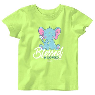 Baby Elephant Shirt, Key Lime, 6 Months  -