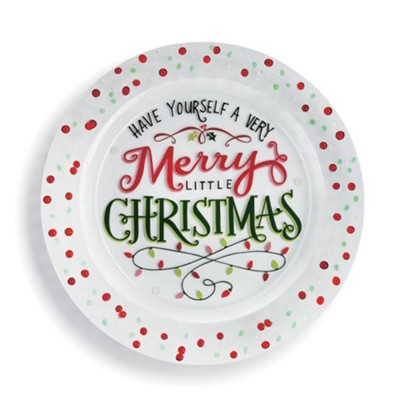 Have Yourself A Merry Little Christmas, Confetti, Platter  -     By: Lori Siebert