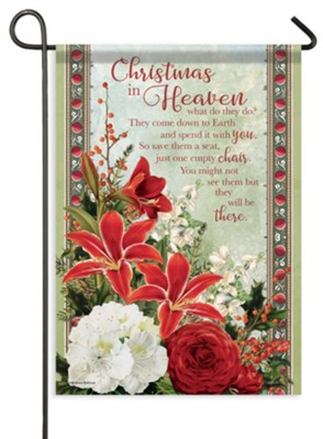 Christmas In Heaven What Do They Do.Christmas In Heaven Flag Small